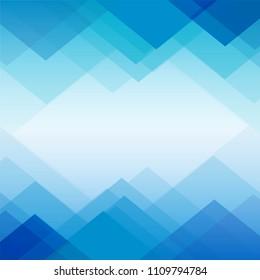 Polygon blue geometric background