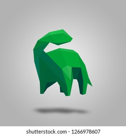 Polygon dinosaur design