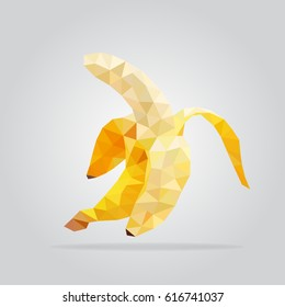 Polygon fruit. Abstarct banana