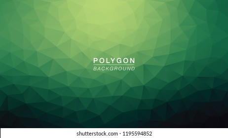 Polygon Green Hulk. Polygonal Gradient for Background. Vector Illus EPS10