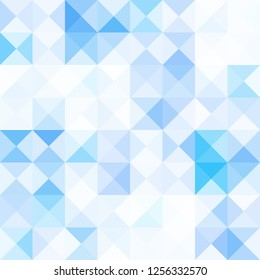 Polygon shape digital art pattern abstract mix blue color background vector