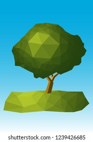 Polygon Tree Design Vector