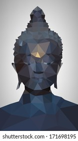 Polygon Vector of Buddha Head
