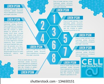 Polygon vector infographic. Also usable for brochures and for the magazine lists layouts.