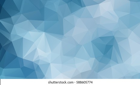 polygonal abstract background consisting of triangles  blue color . Abstract rainbow color Triangle Geometrical Background