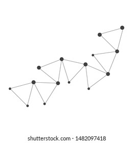 polygonal abstrak background vector template