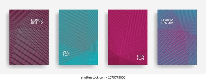 minimal annual report design vector collection stock vector royalty
