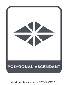 polygonal ascendant icon vector on white background, polygonal ascendant trendy filled icons from Geometry collection, polygonal ascendant simple element illustration