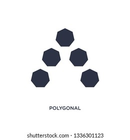 polygonal ascendant isolated icon. Simple element illustration from geometry concept. polygonal ascendant editable logo symbol design on white background. Can be use for web and mobile.