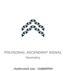 Polygonal ascendant signal icon vector. Trendy flat polygonal ascendant signal icon from geometry collection isolated on white background. Vector illustration can be used for web and mobile graphic
