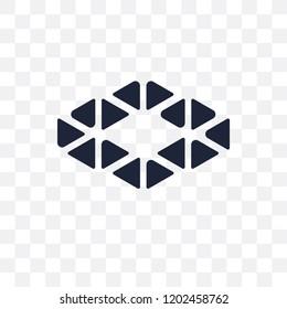 Polygonal ascendant signal transparent icon. Polygonal ascendant signal symbol design from Geometry collection. Simple element vector illustration on transparent background.