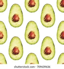 polygonal avocado seamless pattern