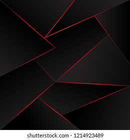 polygonal background. abstract. red lights design  effect. EPS10