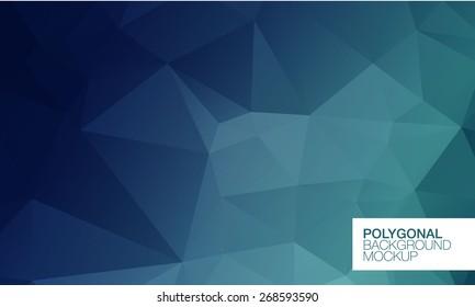 Polygonal background mockup