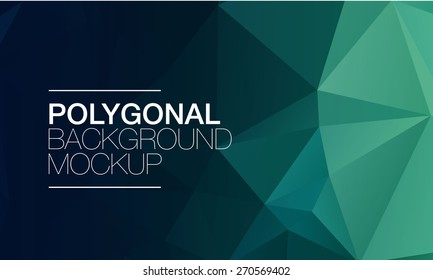 Polygonal background mock-up