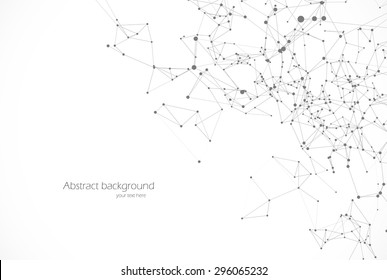 Polygonal background, technology design, dot clusters