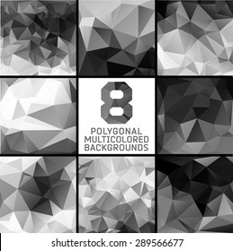 Polygonal background.Crystal and triangles, low poly illustration