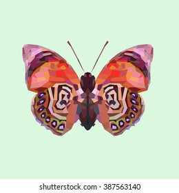Polygonal butterfly, triangular style