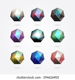 polygonal crystal