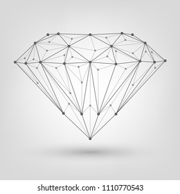 Polygonal diamond, brilliant of mesh