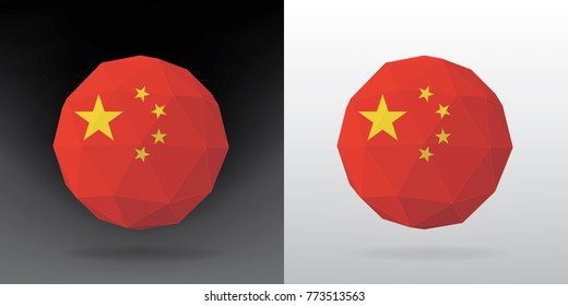 Polygonal Flag - China