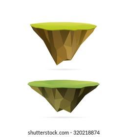 Polygonal floating islands, isolated