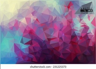 Polygonal flower geometric background in color abstract vector.  geometric background with color flower in geometric abstract style.