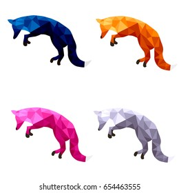 polygonal fox nature art