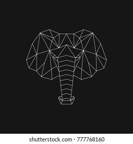 Polygonal geometric animal. Abstract linear isolated objects. Vector illustration.