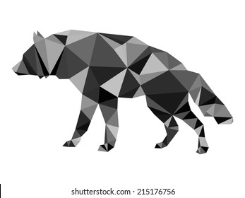Polygonal gray wolf