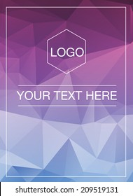 Polygonal greeting card mockup