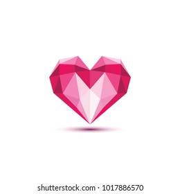 Polygonal Heart Vector illustration.