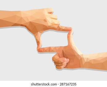 polygonal holding hands like a director empty inside.