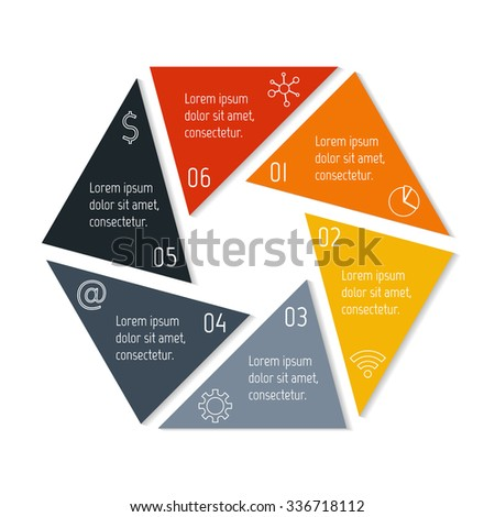 Polygonal Infographic Diagram Circular Connected Chart Stock