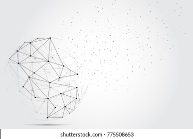 Polygonal isolated on gray background. For web site, wallpaper, poster, placard, ad, cover and print materials. Creative art, modern abstract concept