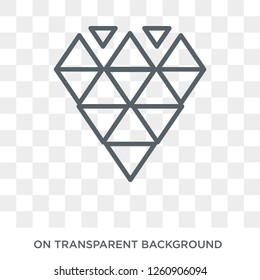 Polygonal jewel icon. Polygonal jewel design concept from Geometry collection. Simple element vector illustration on transparent background.