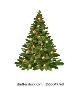Polygonal Lowpoly Art of Christmas Tree