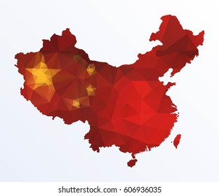 Polygonal map of China