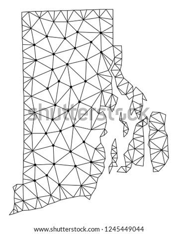 Marvelous Polygonal Mesh Map Rhode Island State Stock Vector Royalty Free Wiring Database Indigelartorg