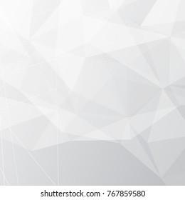 Polygonal modern geometrical pattern futuristic abstract grey background layout design. Vector illustration