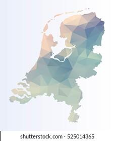 Polygonal Netherlands map