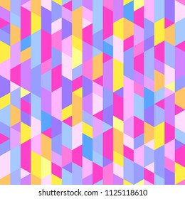 Polygonal pattern. Colorful wallpaper of the surface. Seamless bright tile background. Print for banners, posters, t-shirts and textiles. Unique texture. Doodle for design