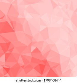 Polygonal shapes background, low poly triangles mosaic, pink crystals backdrop, for your wallpaper