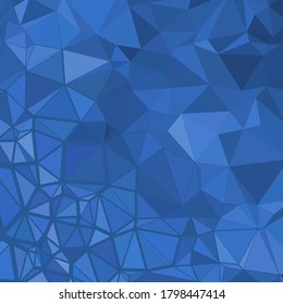 Polygonal shapes background, low poly triangles mosaic, Blue crystals backdrop, for your wallpaper