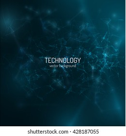 Polygonal technology background. Vector eps10. Connections, can be used as concept of internet technology, communication.