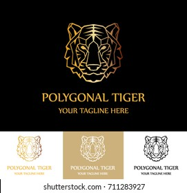 Polygonal Tiger Brand Real Estate Property Royalty Logo Crest Vector Logo Template