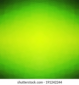 Polygonal vector background with vibrant color radial gradient. Abstract bright green blurred mosaic wallpaper with triangle shapes for banner design template