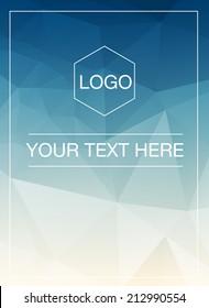 Polygonal vertical greeting card mockup