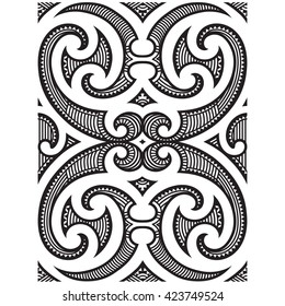 Polynesian Maori Tribal tattoo pattern