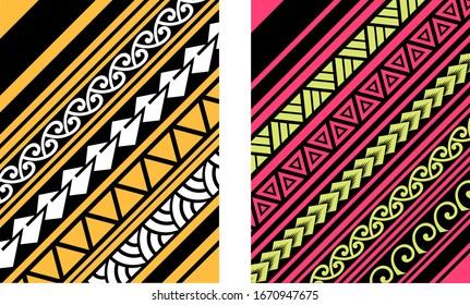 Polynesian motif background vector, Maori wallpaper design